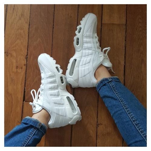 Air max 95 pur platin blanc white